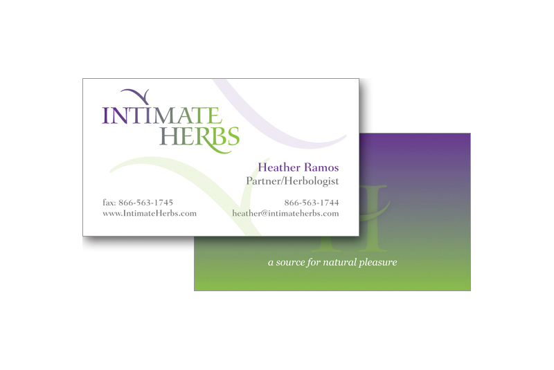 Intimate Herbs business card
