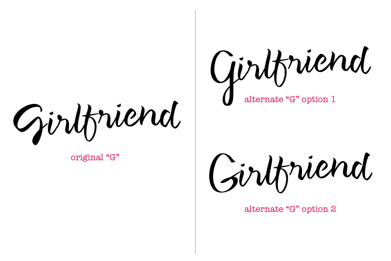 Girlfriend: alternate