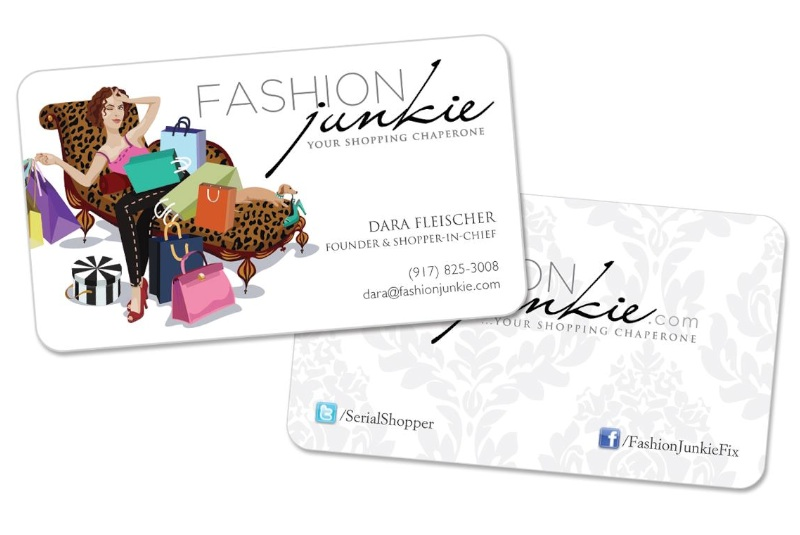 Fashion Junkie Business Cards