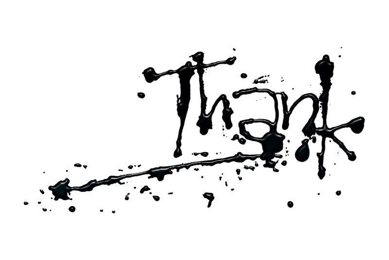 Thank - Hand-lettering used on thank-you card. <em>Process:</em> Inking, scan, clean-up in Adobe Photoshop.