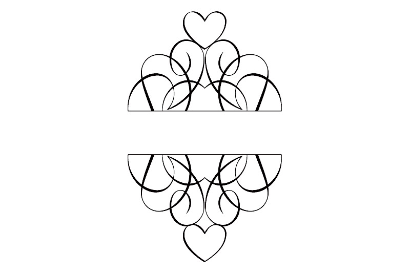 Hearts and Flourishes Embellishment