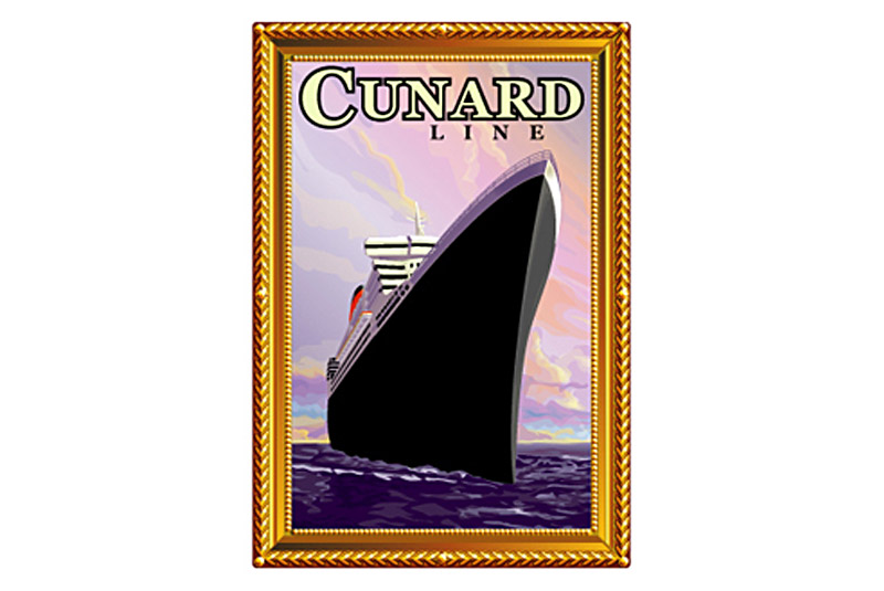 Cunard QM2 Painting