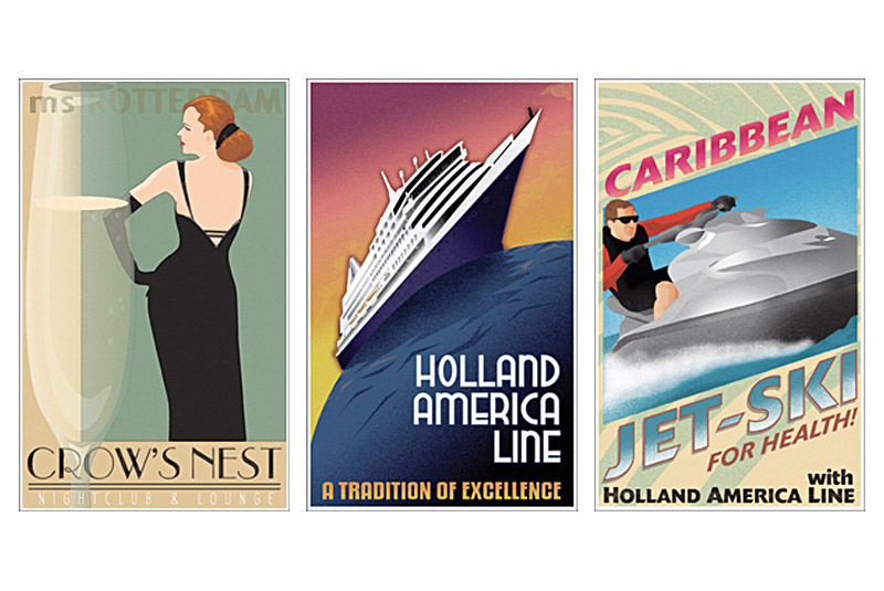 Vintage-y Travel Posters