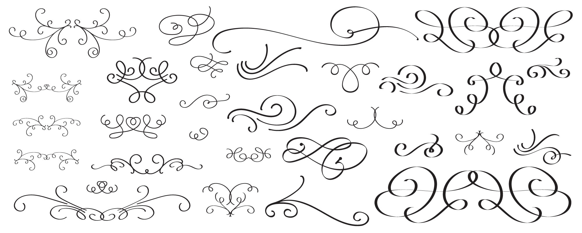 Flexuous Flourishes for Illustrator