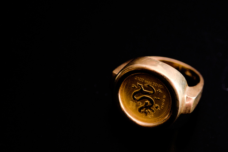 Gold Coin Men's Ring