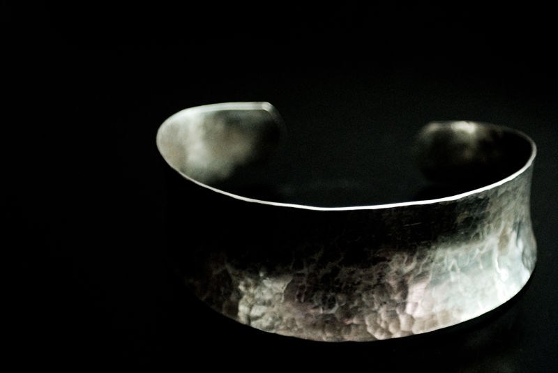 Hammered Silver Cuff