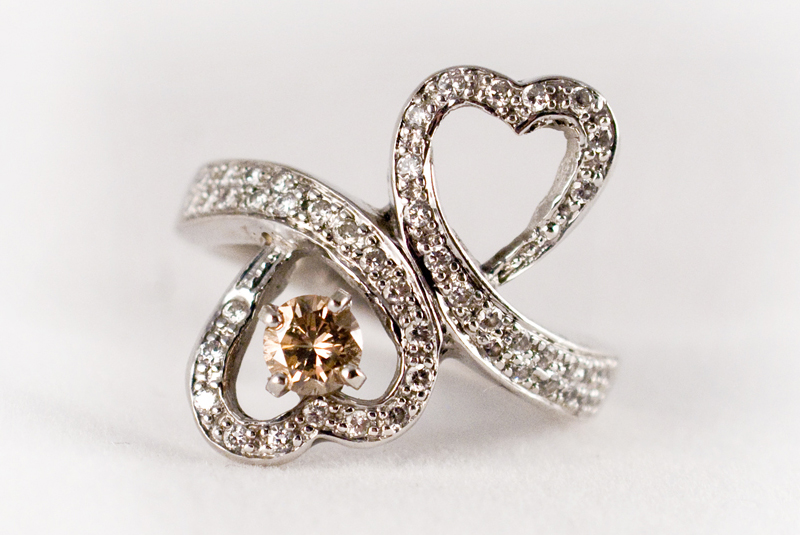 Double Hearts Ring