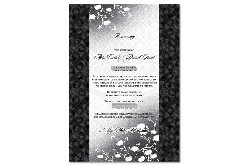 Sin City wedding invitation