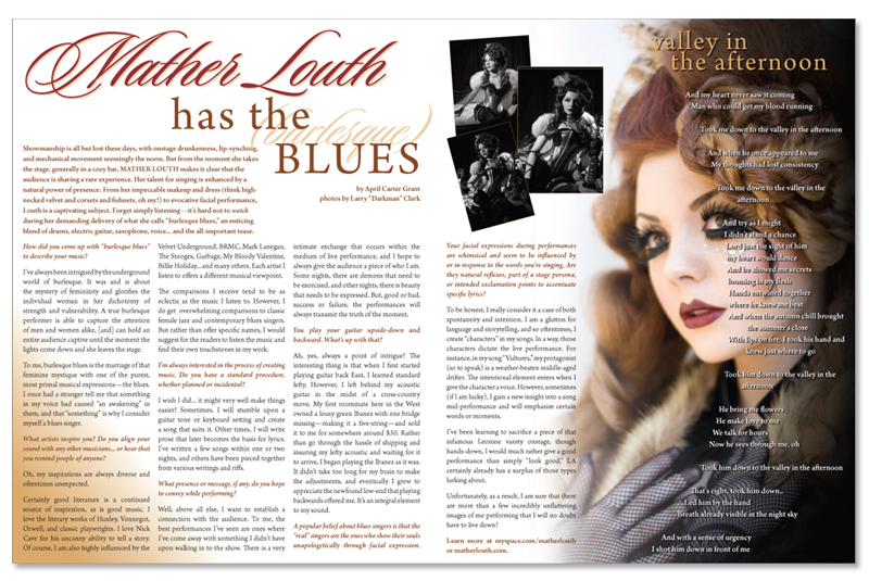Mather Louth Has the Burlesque Blues