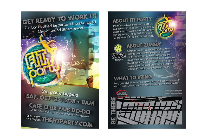 Fit Party LA Flyer