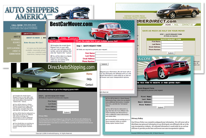 Suite of auto shippers sites