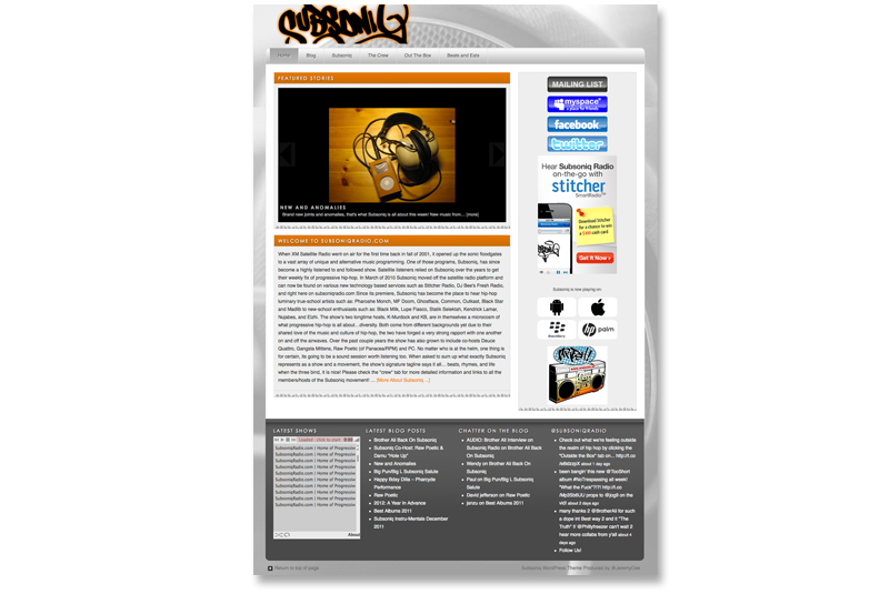 Radio Show Wordpress Theme